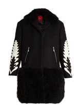 Moncler Gamme Rouge Katie shearling-trim wool and cashmere-blend coat
