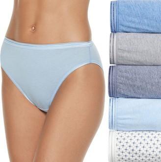 Fruit of the Loom Women's Signature 5-pack Ultra Soft Hi-Cut Panties 5DUSKHC