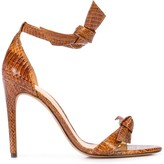 Alexandre Birman snake-effect tie front sandals
