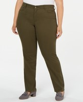 Charter Club Plus Size Twill Lexington Pants, Created for Macy's