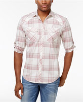 INC International Concepts Men's Dual-Pocket Plaid Shirt, Only at Macy's