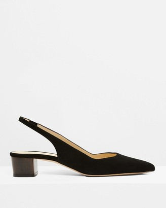 Theory Block Slingback in Suede