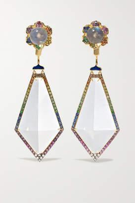 Noor Fares Madhya 18-karat Gold Multi-stone Earrings