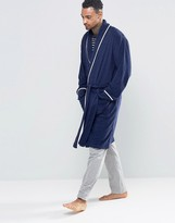 Asos Loungewear Towelling Dressing Gown With Piping