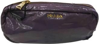 Prada Purple Patent leather Clutch bags