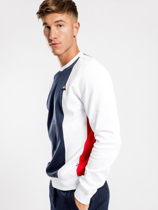 Le Coq Sportif Joel Pullover Sweater in White