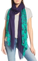 Kate Spade Women's Plume Tissue Weight Oblong Scarf