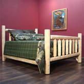 Asstd National Brand Cedar Log Low Post Bed
