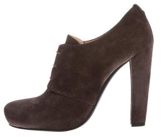 e07bf0ac0c Suede High-Heel Booties w/ Tags Brown Suede High-Heel Booties w/ Tags
