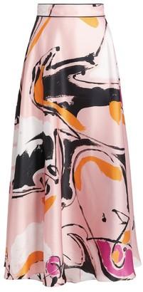 Roksanda Colvin Printed Midi Skirt