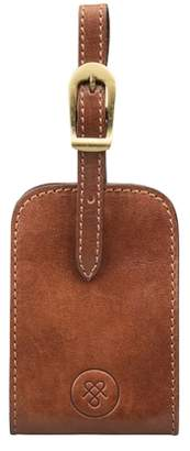 Maxwell Scott Bags Full Grain Luxury Leather Luggage Tag In Tan