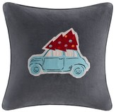 Nobrand No Brand Holiday Velvet Drive Pillow - Grey