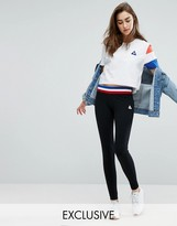 Le Coq Sportif Exclusive To ASOS Leggings With Contrast Tricolor Waistband