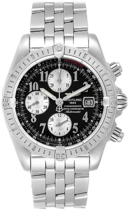 Breitling Black Stainless Steel Chronomat Evolution A13356 Men's Wristwatch 43.7MM