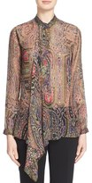 Etro Ruffle Paisley Print Blouse