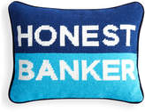 Jonathan Adler UK Needlepoint Personality Pillow - Honest Banker