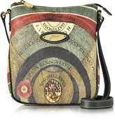 Gattinoni Planetarium Coated Canvas and Leather Crossbody Bag