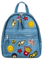 Cesca Women's Medium Backpack with Patches - Denim