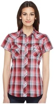 Roper 0926 Cranberry Plaid w/ Silver Lurex Women's Clothing
