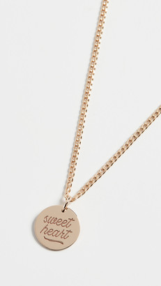 Zoë Chicco 14k Gold Small Disc Sweet Heart Necklace