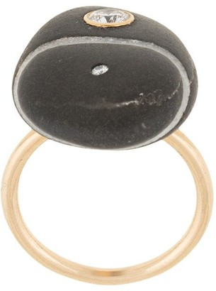 Cvc Stones 18kt yellow gold Castle Rock diamond pebble ring