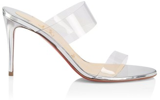 Christian Louboutin Just Nothing PVC Leather Mules
