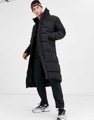 Asos Design DESIGN sustainable puffer coat with funnel neck in black