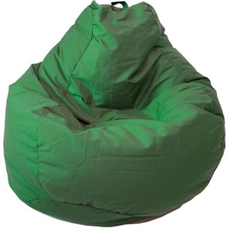 Gold Medal Large Tear Drop Demin Look Bean Bag with Pocket