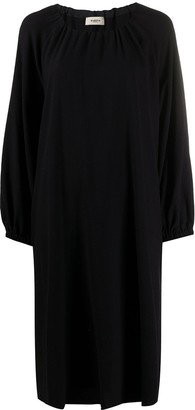Barena Balloon Sleeve Midi Dress