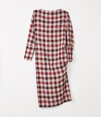 Vivienne Westwood Boxy Farrita Dress Beige/Fuchsia