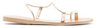Ancient Greek Sandals Afea Metallic Leather Sandals - Womens - Gold