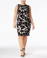 Kasper Plus Size Floral-Print Sheath Dress