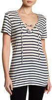 Velvet by Graham & Spencer Wren Striped Lace-Up Tee