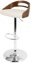 Lumisource Cassis Adjustable Height Swivel Barstool