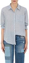 Current/Elliott Women's Striped Voile Boyfriend Shirt