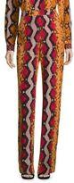 Etro Snake-Print Silk Trouser