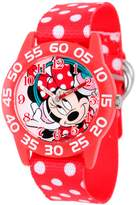 Disney Minnie Mouse Girl's Red Plastic Watch