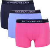 Polo Ralph Lauren 3 Pack Navy, Pale Blue & Pink Boxer Trunks
