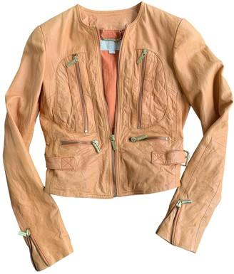 Michael Kors Orange Leather Jackets