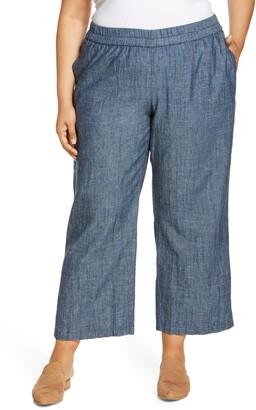 Eileen Fisher Chambray Straight Leg Pants