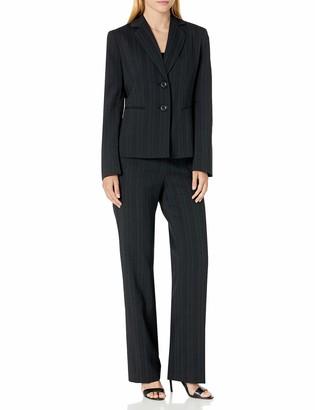 Le Suit LeSuit Women's Tonal Stripe 2 Bttn Notch Lapel Pant Suit