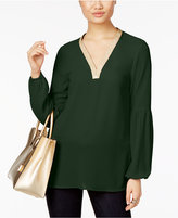 MICHAEL Michael Kors Metallic-Trim Tunic, A Macy's Exclusive