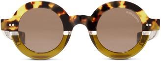 Oliver Goldsmith Sunglasses 1930'S Leopard On Olive