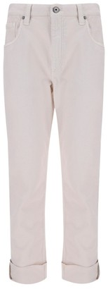 Brunello Cucinelli Straight-Lege Cropped Jeans