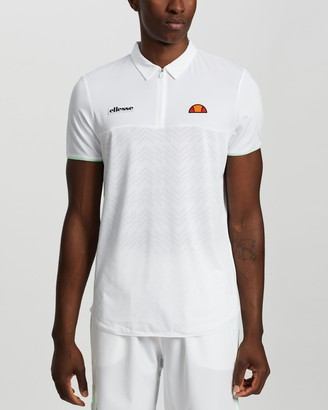 Ellesse Men's White Polo Shirts - Eminent Shirt - Size M at The Iconic
