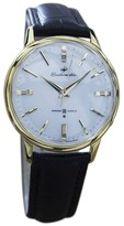 Seiko Seikomatic Gold Plated Stainless Steel & Leather Automatic Vintage 36mm Mens Watch 1960s