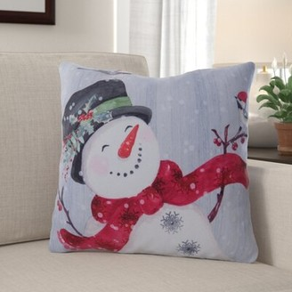 The Holiday Aisle Fergerson Snowman Indoor/Outdoor Throw Pillow The Holiday Aisle