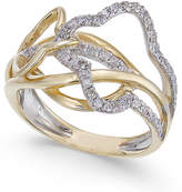 Macy's Diamond Abstract Statement Ring (3/8 ct. t.w.) in 14k Gold & White Gold