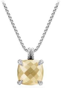David Yurman Chatelaine® Pendant Necklace With 18K Gold And Diamonds,