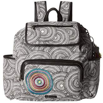 Sakroots Fleetwood Backpack (Black/White Mosaic Wanderlust) Backpack Bags